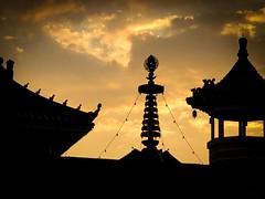 Sunset Nan Hua Temple