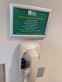 3rd floor of UVM Dudley H. Davis Center Payphones