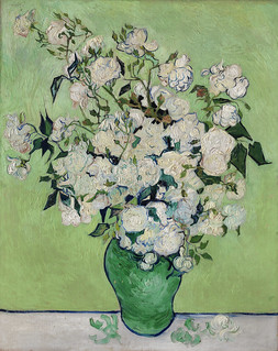 Roses (1890) by Vincent Van Gogh. Original from the MET Museum. Digitally enhanced by rawpixel.