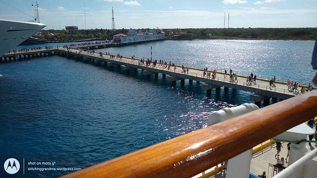 LONG piers in Cozumel