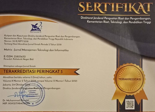 Sertifikat Akreditasi Jurnal MATRIX | by sapteka
