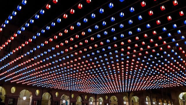 Under a sky of cubes