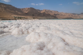 Salt crystals in the Dead Sea, Israel | by www.ralfsteinberger.com