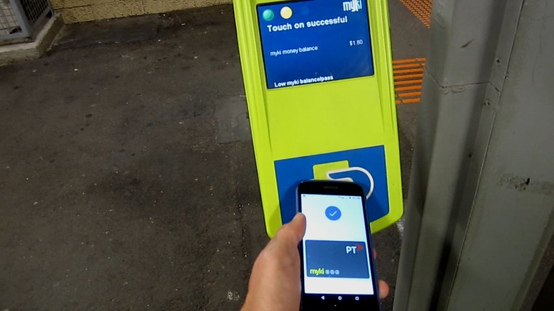 Mobile Myki: touching at a reader