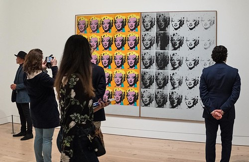 Andy Warhol, Marilyn Diptych (1962) at the Whitney Museum ...
