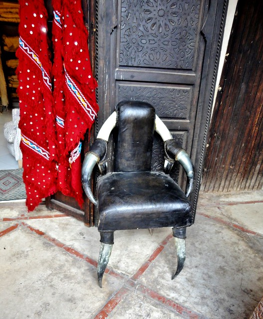 horned armchair  - Suk of Marrakech