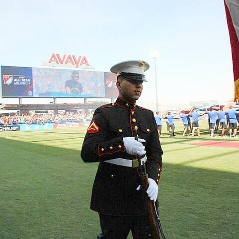 2016 #mlsallstar #sanjose thank them today #veteransday #marines #groundhopping #avayastadium for FootySF
