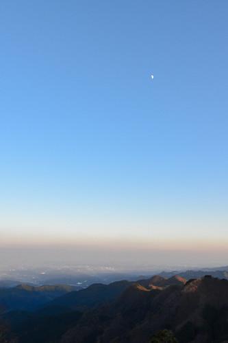 tokyoprefecture japan mountains sunset sky moon odakesan
