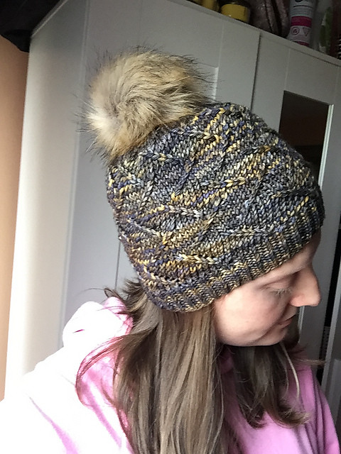 Christina loves the Irma hat that she knit herself with Malabrigo Rios! Now she plans to knit herself matching mitts!!