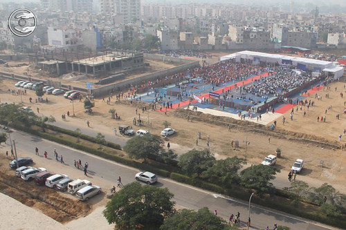 An Arial view of Satsang Ground