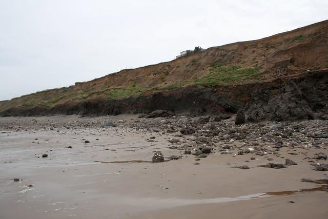 The beach north of Hornsea