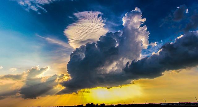 050212 - Nebraska Sunset Thunderheads 012 (Pano)