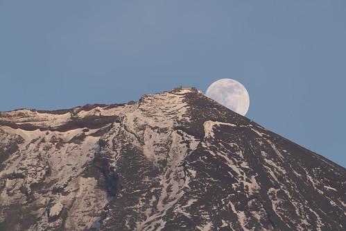 mountain fuji nikon d850 afsnikkor200500mmf56eedvr moon sunset