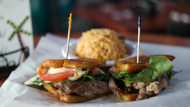 Jibarito Sandwich from Puerto Rico Restaurant in Windsor Heights Iowa