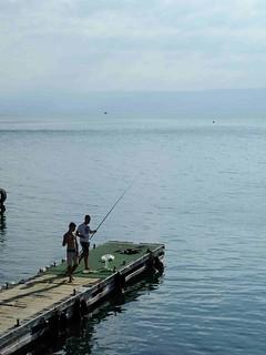 Fishing in the lake Tiberias, Israel