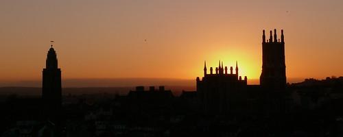 cathedralofstmarystanne northcathedral sunset sundown november 2018 church cathedral cork ireland irelandsancienteast shandon churchofstanneshandon shandonbells