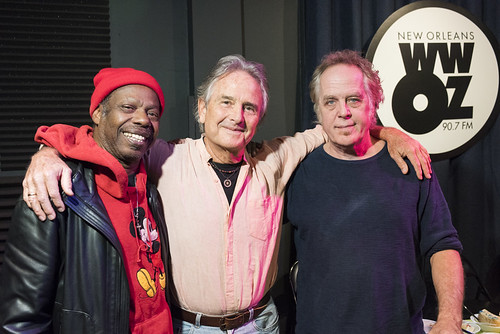 Walter Wolfman Washington, Spencer Bohren, and Jimmy Robinson at WWOZ's 38th birthday - 12.4.18. Photo by Ryan Hodgson-Rigsbee rhrphoto.com.