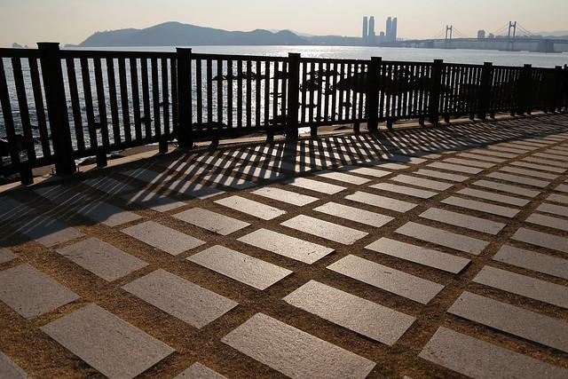 廣安大橋與海雲台   (광안대교, 해운대)