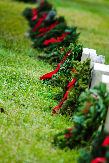 Wreaths Laid on Headstones