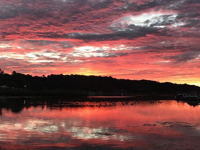 Sunset on irondequoit bay, NY