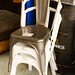 Metal bistro chair E50