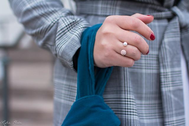 plaid blazer, white culottes, black sweater, teal velvet knot bag-7.jpg