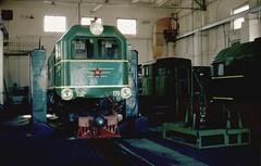 "Südzufuhrbahn / Southern Feeder Railway: ""hovering"" TU-179 inside Hajvoron MPD 30-05-2003."