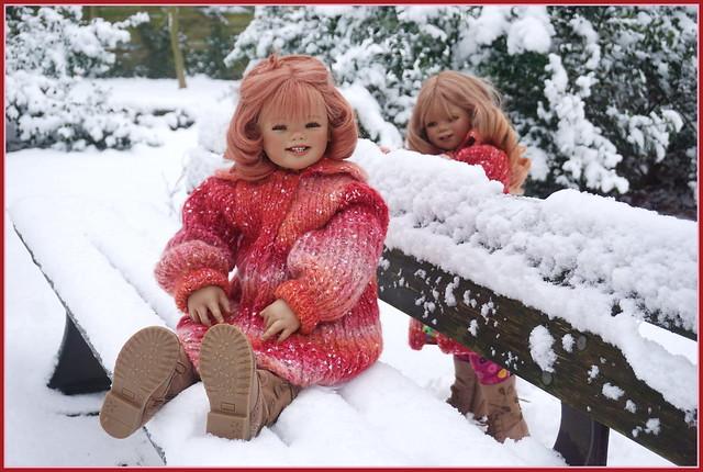 Sanrike und Tivi ... es hat geschneit ...