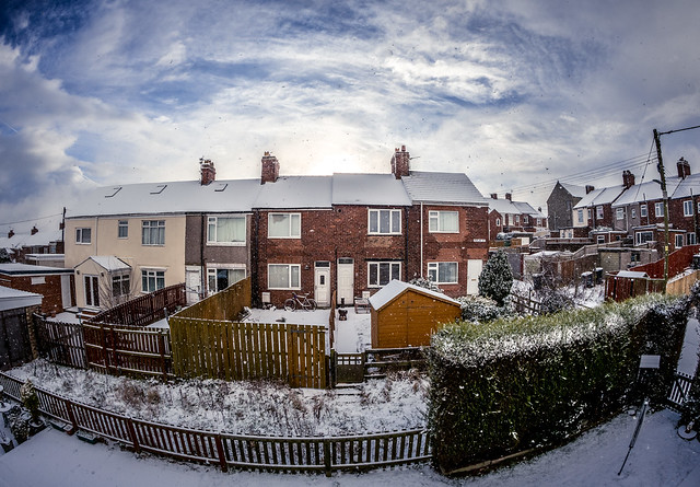 Terraces and snow. . .