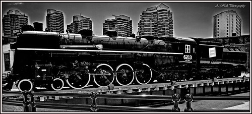 Toronto Railway Museum 6 BW HDR | by lemon_hill