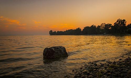 sunset ontario kingston stlawrenceriver