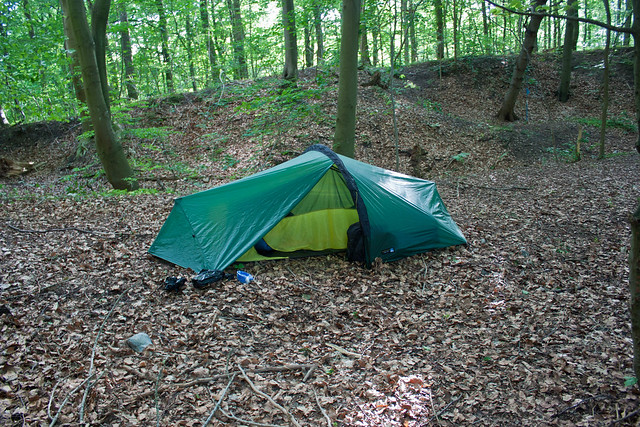 Overnatning på teltpladsen i Terkelskov