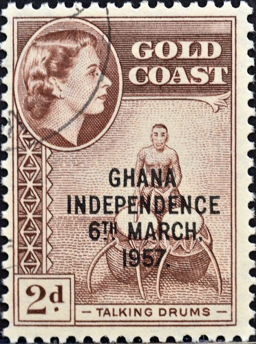 Ghana (06) 1957 Queen Elizabeth Stamps of 1952 of Gold Coast Overprinted GHANA INDEPENDENCE 6TH.. MARCH, 1957   by DC Stamps