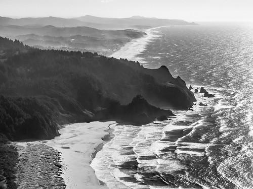 landscape bnw sea