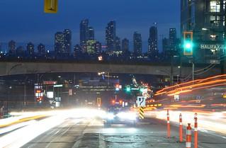 Metrotown skyline from Willingdon Ave, Burnaby