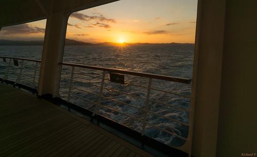 sunsetcoucherdesoleilambercove republiquedominicaine sky de larrière du bateau croisière oosterdam ship cruise