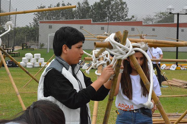 Estudiantes de 5.º año de secundaria participaron en taller de Arquitectura USIL
