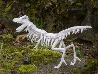 T-rex skeleton ( one square !  ) | by bodorigami