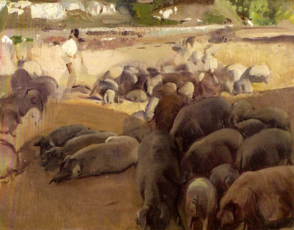 Mercado de cerdos | Joaquín Sorolla, 1917 Óleo sobre lienzo … | Flickr