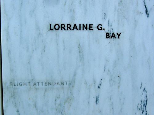 lorraine g bay flight attendant wallofnames heroes rock flight93 shanksville 93 911 91101 september 11 2001 unitedairlines somerset county laurelhighlands neverforget towerofvoices nationalmemorial education center pa pennsylvania landscape scenic historical history memorial georgeneat patriotportraits neatroadtrips