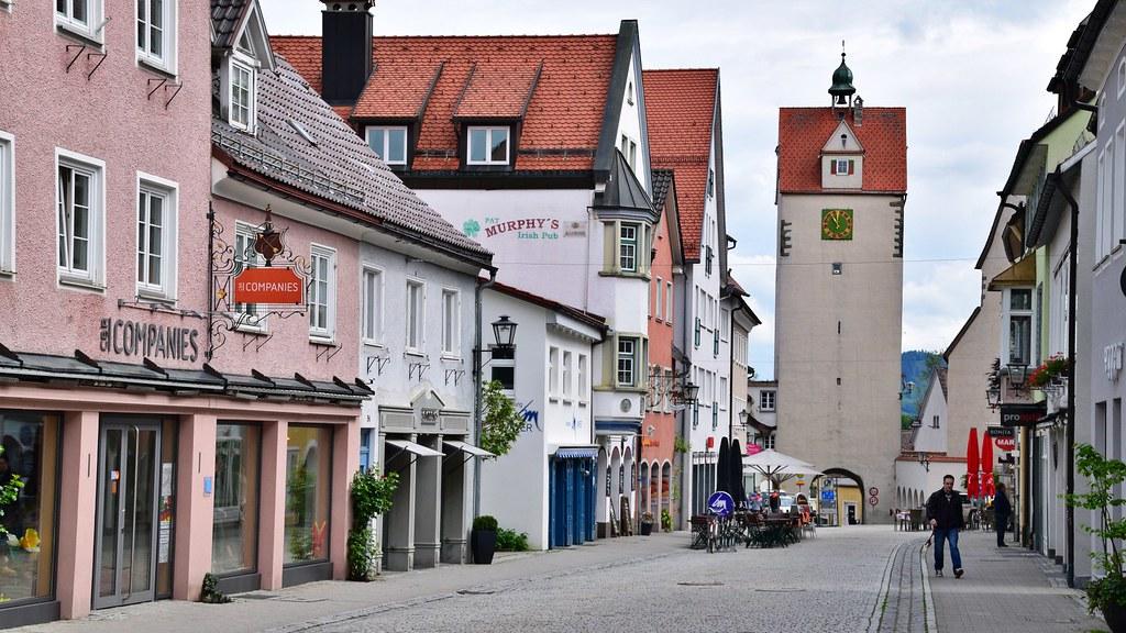 Fußgängerzone in Isny im Allgäu