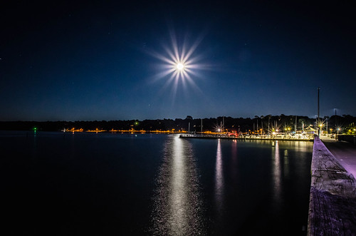 mobilebay fairhope alabama nikond5100 nikon 1855mm night moon water seascape landscape bestnight outside