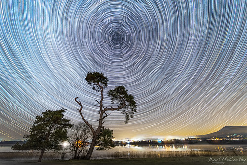 night star trails tree llangorse astro astrophotography