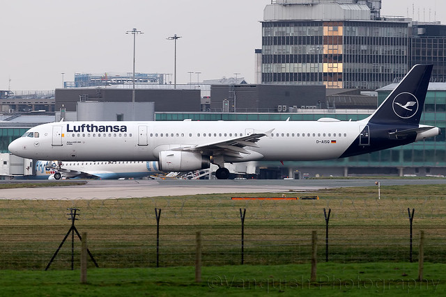 D-AISQ Lufthansa A321 Manchester Ringway Airport