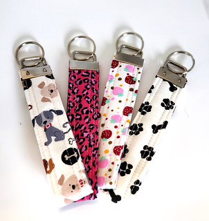 Quilted Keychain Wristlets | by Christy @ Raining Crafts & Dogs