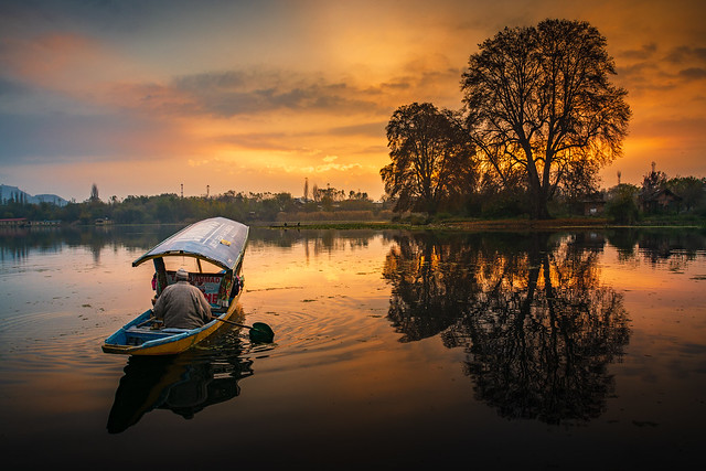 Nageen Lake in Kashmir, India