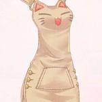 012モモの吊りスカート(茶)