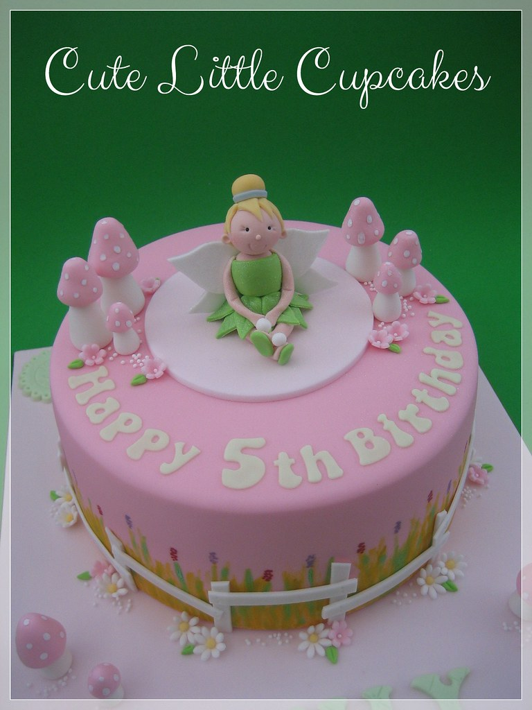 Peachy Tinkerbell Fairy Birthday Cake Heidi Stone Flickr Personalised Birthday Cards Sponlily Jamesorg