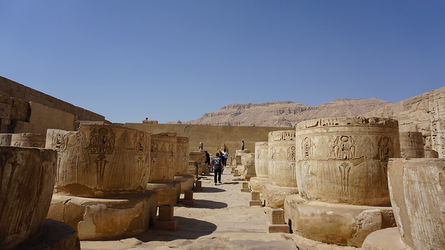 The Mortuary Temple of Ramesses III at Medinet Habu, West Bank, Luxor, Egypt.
