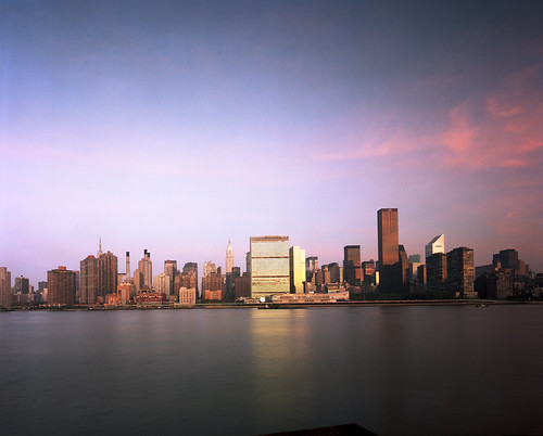 United Nations Headquarters and New York City Skyline | by United Nations Photo